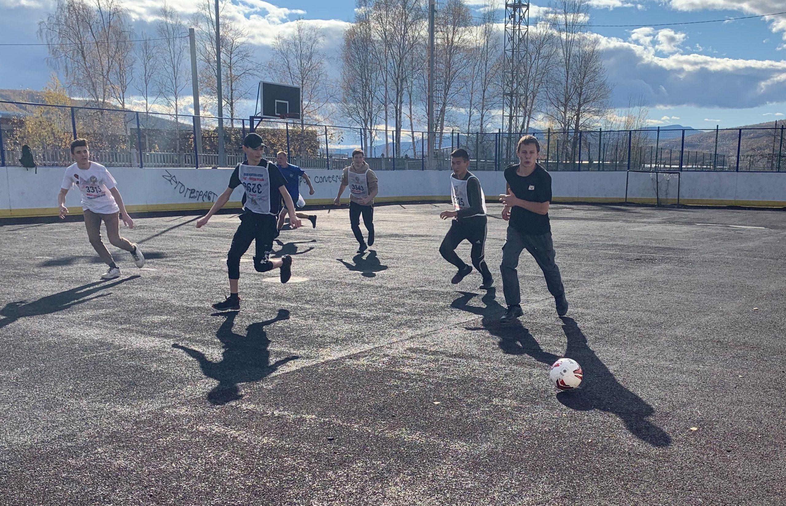 Соревнования по мини-футболу внутри техникума в рамках спартакиады